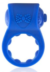 Primo Tux Silicone Vibrating Ring - Blue