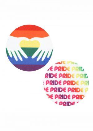 Peekaboo Pride Circles Pasties - Rainbow
