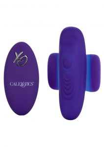 Calexotics Lock-N-Play Silicone Rechargeable Panty Vibrator - Purple