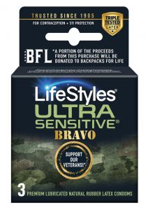 Lifestyles Condom Sensitive Bravo 3 Pack