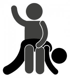 Over the knee spanking position