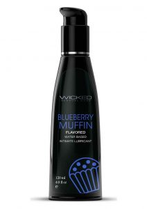Wicked Aqua Water Based Flavored Lubricant Blueberry Muffin 4oz
