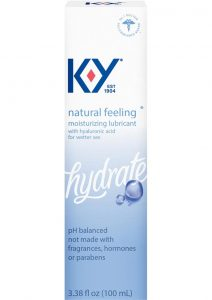 KY Hydrate Natural Feeling Moisturizing Lubricant With Hyaluronic Acid 3.38oz